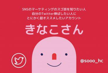 SNSマーケティングに新星現る!フォロー必須のアカウント「きなこ(@sooo_hc)」さんについて、勝手にまとめてみました!